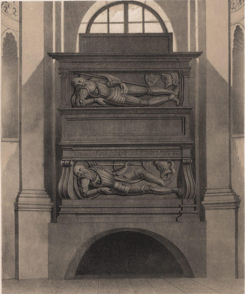 Pomnik Firlejów wKościele Dominikanów.