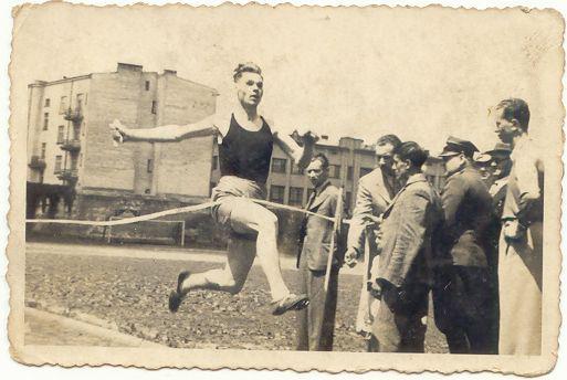 1938r. bieg 5 km.pierwsze miejsce