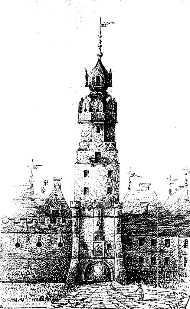 Wygląd Bramy Krakowskiej przedrokiem 1787.