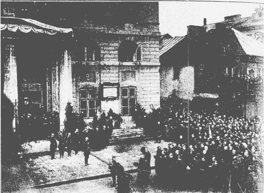 Przemówienie p.Szczepańskiego podczas odsłonięcia tablicy pamiątkowej.