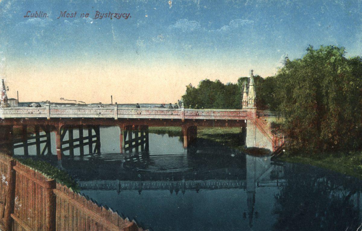 Budowa mostu naBystrzycy