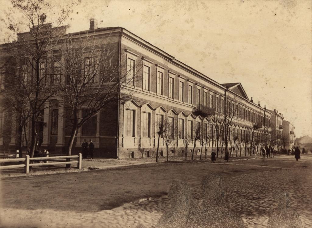 Gmach Gimnazjum Męskiego wLublinie, fot.ok. 1900 r. @Biblioteka Cyfrowa -  Wojewódzka Biblioteka Publiczna im H. Łopacińskiego.