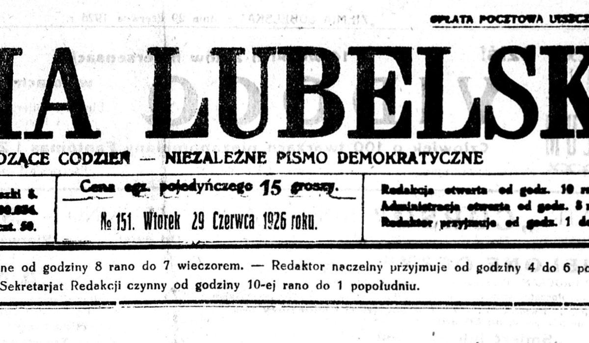 Tajemnice organizacji faszystowskiej wLublinie