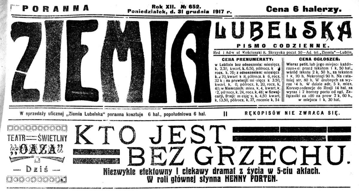 Co robili Lublinianie 100 lat temu? – Święta iSylwester