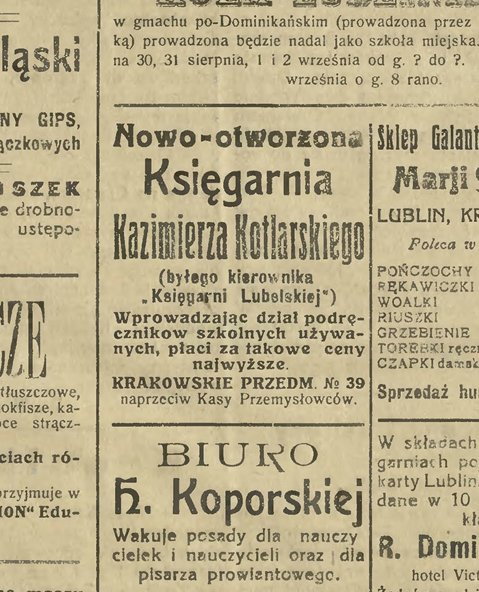 Księgarnia Kazimierza Kotlarskiego